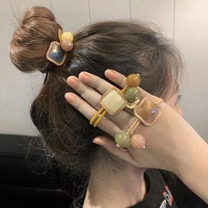 韩国复古头绳女简约ins韩版网红发圈可爱少女扎头发皮筋发绳头饰