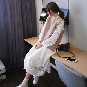 秋冬毛衣原宿韓版長裙套裝裙子兩件套連衣裙女潮學生bf風甜美百搭