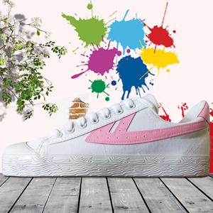 回力鞋帆布鞋手绘鞋涂鸦DIY定制彩绘休闲鞋男女情侣经典粉标款