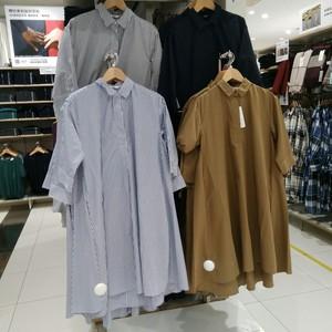 女装 优质长绒棉A字型条纹连衣裙 412932 412931 优衣库专柜