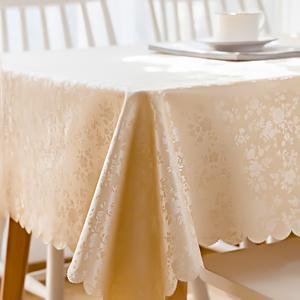 餐桌布布藝歐式防水防燙防油免洗長方形酒店飯店臺布家用茶幾桌布