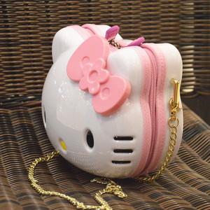 生日礼物KT单肩包包斜挎包女童背包公主Kitty斜跨包女儿童小女孩