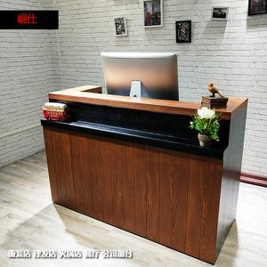 美容院复古收银台美容养生会所接待前台服装店柜台餐厅吧台