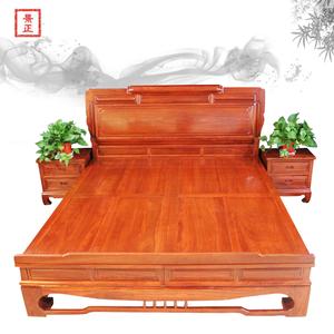 花梨木明式大床雙人床成人剌猬紫檀紅木中式實木床婚床紅木家具