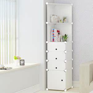 边角多功能墙角柜简约收纳架角落白色塑料衣柜防水三角柜拐角书柜