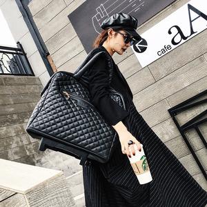 全球購手提拉桿旅行李箱包登機韓版時尚潮流雙拉鏈防水軟皮箱女