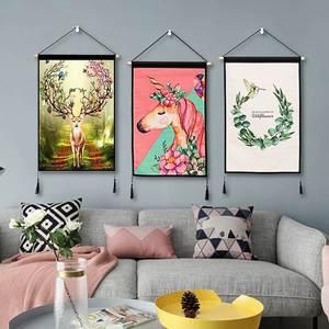 背景墙装饰布景网红抖音同款客厅餐桌直播间美容院墙面创意挂饰