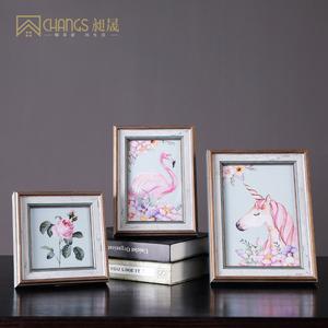 相框欧式4寸6寸7寸10寸可爱女生房间摆台照片框架韩式风格装饰画
