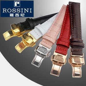 羅西尼真皮表帶女士原裝款紅色白色13 14 16 18mm蝴蝶扣5578 6462