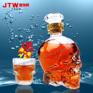 洋酒 海盗威士忌 水晶骷髅头威士忌骷髅头洋酒送骷髅头酒杯