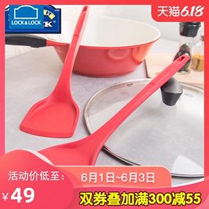 韓國樂扣不粘鍋專用鍋鏟硅膠鏟廚房炒菜鏟子長柄耐高溫護鍋鏟平鏟