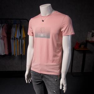 歐洲站男短袖t恤潮流刺繡2020新款歐貨男士圖案帥氣個性潮牌半袖