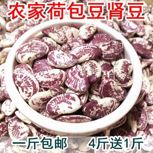 云南農家荷包豆狀元豆大腎豆500g豆類雜糧花蕓豆花豆非斑馬豆包郵
