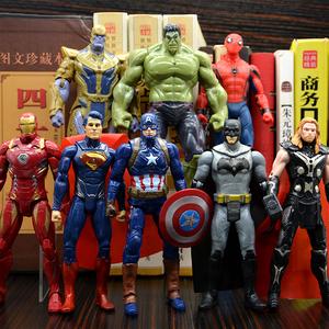 復仇者聯盟4可動漫威全套手辦模型綠巨人滅霸鋼鐵俠驚奇隊長雷神
