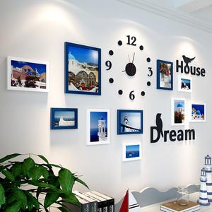 創意房間3d立體墻貼背景墻面自粘相框墻紙貼畫兒童臥室墻壁裝飾品
