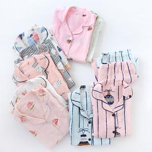 棉紗月子服春夏孕婦裝全棉薄款紗布哺乳裝大碼孕婦睡衣家居服套裝