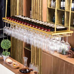 酒杯架酒吧台悬挂高脚杯架创意倒挂红酒葡萄酒酒架吊杯架红酒架子