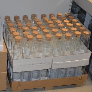 正品宜家ikea365+带盖玻璃水瓶 软木塞耐热水瓶 果汁饮料瓶冷水壶