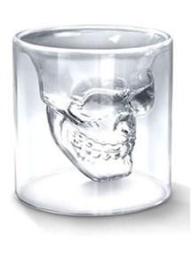 水晶骷髅头伏特加威士忌酒杯创意骷颅头白酒杯洋酒杯送男友礼品