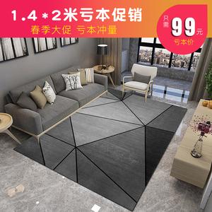 北歐風ins地毯臥室客廳簡約沙發茶幾毯滿鋪房間家用大面積地毯墊