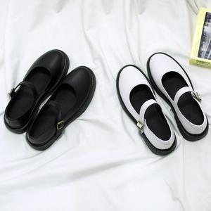 春季新款玛丽珍鞋女复古软妹小皮鞋女日系一字扣单鞋平底厚底女鞋