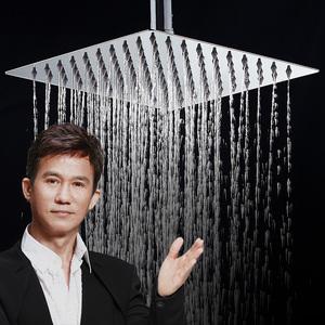 304不锈钢淋浴花洒 浴霸喷头顶喷增压浴室莲蓬头淋浴头家用淋雨头