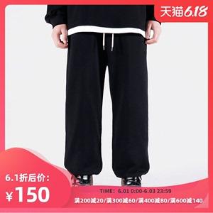 Mr forty春夏運動褲男寬松潮流籃球褲抽繩束腳褲子休閑闊腿衛褲潮