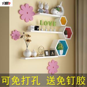 墻上置物架電視背景墻置物架創意格子裝飾架客廳墻面墻壁壁掛擱板