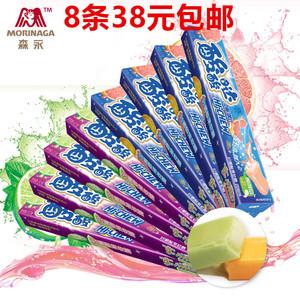包郵 森永嗨啾HI-CHEW酸酸噠水果軟糖57g*8條共456克青檸味西柚味