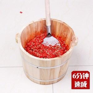 ?#34892;?#31859;椒神器手工做剁辣椒的刀铲桶切辣椒段机木桶家用?#34892;?#31859;椒机