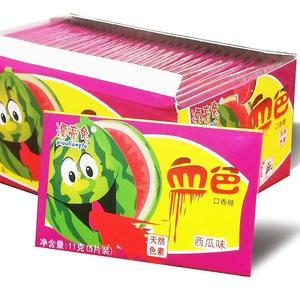 吐血口香糖整盒30包150片草莓西瓜泡泡糖整蠱搞怪網紅零食。