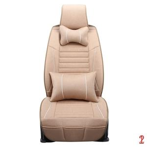 汽车座套四季通用全包亚麻坐垫18新款布艺座套夏季织物汽车座垫套