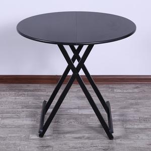 家用折叠桌多功能易吃饭桌子饭桌圆桌收缩小圆形可折叠易餐桌