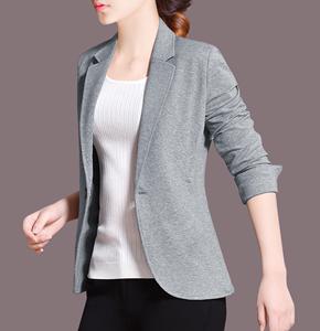 香港专柜正品阿玛尼女装代购2019秋季新款经典休闲短款小西装外套