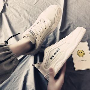 2019新款秋季男鞋子冬季棉鞋帆布老爹潮鞋百搭休閑運動板鞋小白鞋