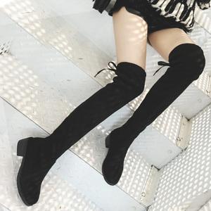 长靴女过膝瘦瘦靴2019秋季新款平底长筒靴子网红百搭高筒春秋女鞋