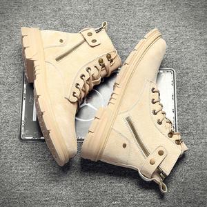 2020夏季新款馬丁靴男高幫男鞋透氣秋季百搭男士男靴子中幫工裝靴