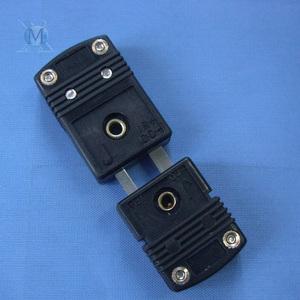 J型热电偶插头插座 黑色小插头连接器测温稳定反应快