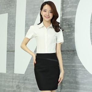 日本購XJ2017新款潮春裝雪紡女裝短袖中袖端莊大氣択寬松紗料襯衫