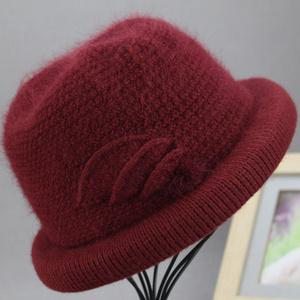 新款老人毛线帽奶奶加绒保暖秋冬天老太太帽子手工针织帽女中老年