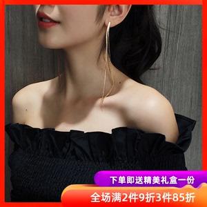 耳線2020年新款潮耳環韓國氣質長款網紅流蘇耳釘女純銀防過敏耳飾