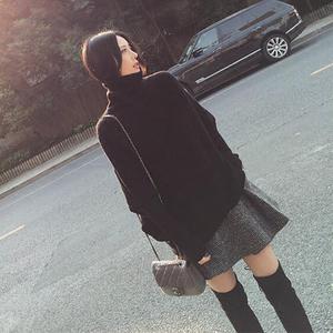 轻熟风洋气2019秋冬新款气质慵懒风毛衣短裙两件套装打底连衣裙女