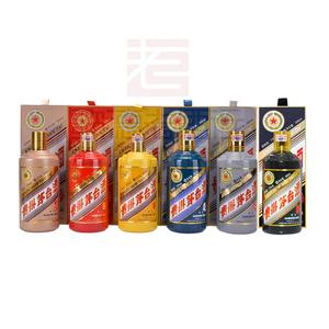 贵州茅台生肖酒 收藏纪念酒 53度酱香马羊猴鸡狗猪500ml*6 生肖套