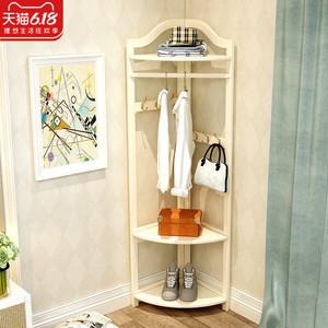 衣架落地轉角衣帽架掛衣架實木臥室置物架簡約現代客廳衣服架子