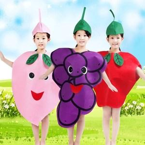 幼儿园手工制作环保衣服走秀亲子装废物利用大人儿童蔬菜装扮