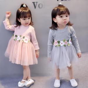 宝宝小裙子0-1岁女童连衣裙春季儿童装春装婴儿群子2-3小童公主裙