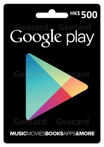 24小时自动发货香港谷歌充值卡礼品卡 google Gift Card 500港币
