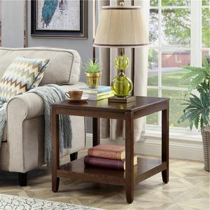 簡約沙發邊幾柜小桌子客廳角幾實木小茶幾美式家用方幾角柜床邊桌