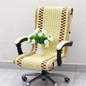 椅子坐垫带靠背一体办公室夏季防滑老板椅凉垫麻将凉席电脑椅竹垫