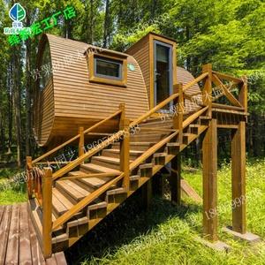 户外木屋防腐木木屋别墅小型移动农家乐小木屋日式组装欧式木屋